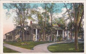 New York Schuyler Mansion Headquarters Of Burgoyne 1925