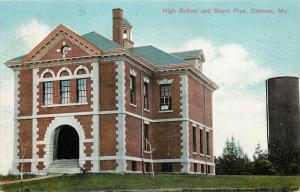 Old Town ME~Brickwork on High School Before Expansion~Windows~Stand Pipe 1907