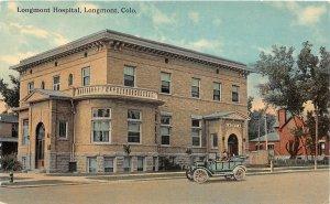 F73/ Longmont Colorado Postcard c1910 Longmont Hospital