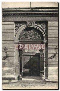 Old Postcard Saint Denis Maison De La Legion d & # 39honneur monumental Portal