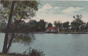 Iowa Des Moines Park Bath House View From Birdland Drive 1910
