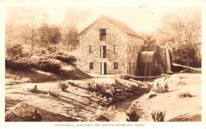 Grist Mill in South Sudbury, Massachusetts Wayside Inn, Real Photo.