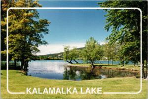 Kalamalka Lake near Vernon BC c1990 Vintage Postcard D91