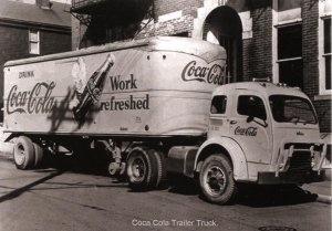 Coca-Cola Delivery Truck circa 1949   (Photo Reprint, 5.75 X 4)