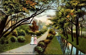 Massachusetts Malden Fells Mere Park General View 1910