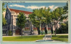 CHICAGO, IL Illinois   MANDEL HALL University of Chicago  1945   Linen  Postcard