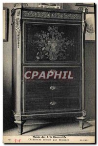Old Postcard Musee des Arts Decorative Chest executed by Riesener