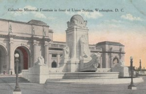 WASHINGTON D.C. , 1900-10s ; Columbus Water Fountain , Union Station