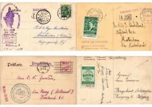 POSTCARD CLUBS, CLUB DE CARTES POSTALES with LABELS 100 CPA in ALBUM with BETTER