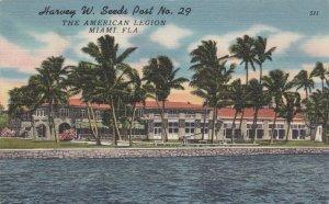 Florida Miami Harvey W Seeds American Legion Post No 29 sk428