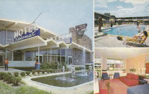 WASHINGTON D.C. , 1950-60s ; Diplomat Motor Hotel, Fountain, Room, Pool