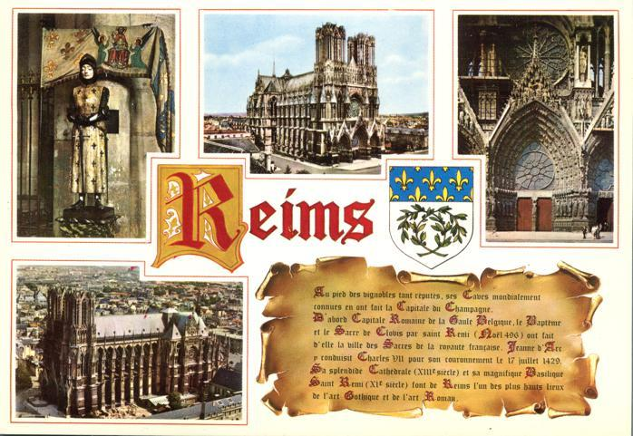 Art and History of City of Reims, France