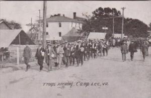 Virginig Camp Lee Troops Arriving