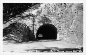 Rainier National Park Washington~East Side Highway Tunnel~West Portal~1940s RPPC