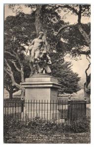Early 1900s Football Statue, University of California Berkeley Postcard *5N19