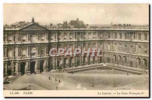 Old Postcard Paris Louvre Court Francois I.