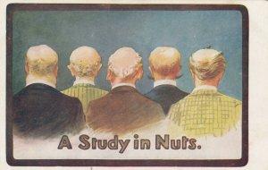 Five bald headed men, 1900-10s; A Study in Nuts