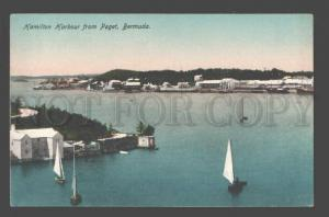 090311 BERMUDA Hamilton Harbour from Paget Vintage PC