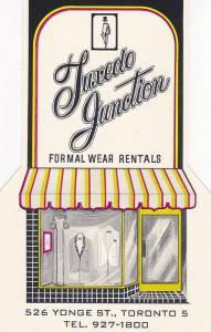 Illustrated Advertisement for Tuxedo Junction, Formal Wear Rentals, Toronto, ...