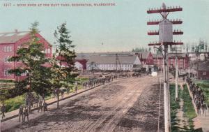 Noon hour at the Navy Yard, Bremerton, Washington, 00-10s