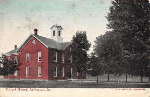 Arlington Iowa~School House~Country Setting~1912 Postcard