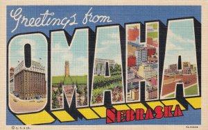 Large Letter OMAHA, Nebraska, 1930-1940s