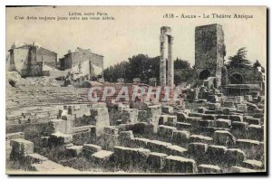 Old Postcard Arles Theater Antique