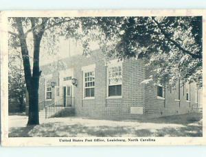 Pre-1980 POST OFFICE SCENE Louisburg North Carolina NC hs1459