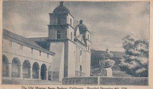 SANTA BARBARA, California, PU-1910; The Old Mission, Fountain