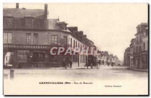 Old Postcard Grandvilliers Beauvais Street