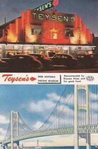 2 Views: Mackinaw Bridge & Teysen's Indian Museum & Gift Shop, Mackinaw City ...