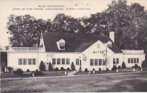 North Carolina Greensboro Bliss Restaurant Artvue
