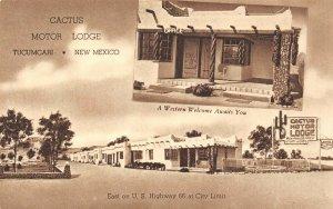 LP20  Tucumcari   New Mexico Postcard  RT 66 Cactus Motor Lodge Roadside