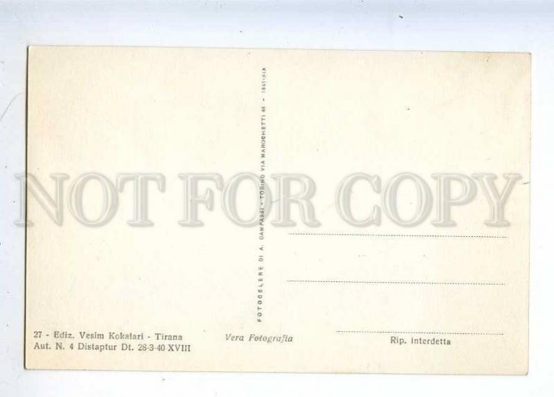 233012 ALBANIA TIRANA Piazza Scanderbe mosque Vintage postcard