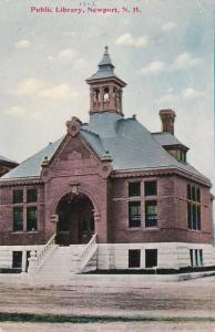 Public Library - Newport NH, New Hampshire - pm 1911 - DB