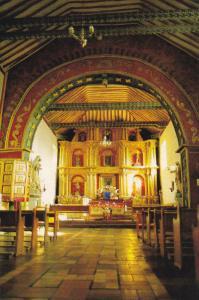 Colonial Church, Interior View, CUCAITA, Colombia, 50-70's