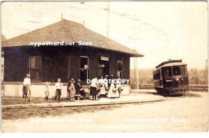 RPPC, R.S.& B. Trolley Station & Post Office, Wallington NY
