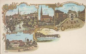 Oldesloe Soolbad Vintage German Artist Postcard