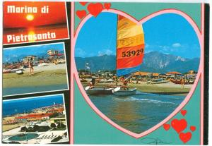 Italy, Marina di Pietrasanta, used Postcard