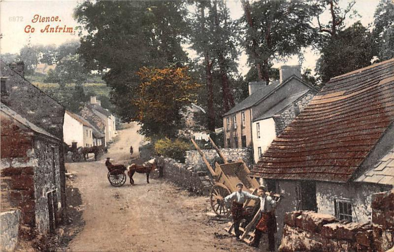 Norther Ireland, Co. Antrim, Glencoe, carriages, cart, wheelbarrow