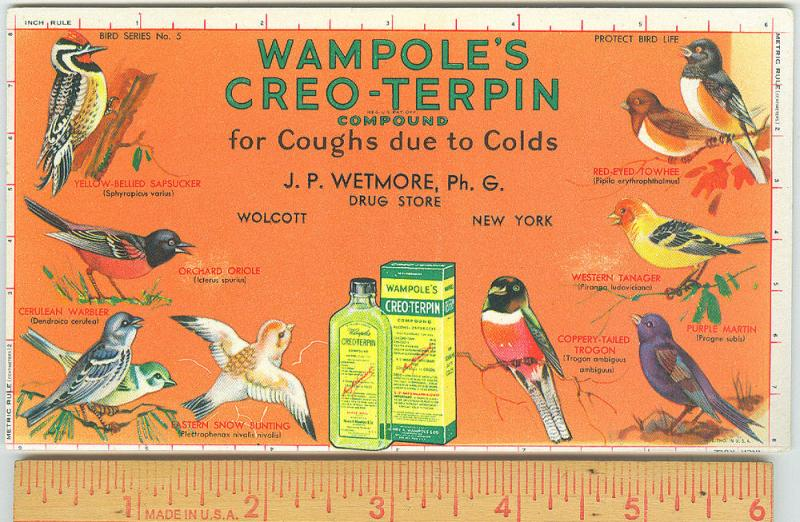 Wampole's Creo - Terpin, J.P. Wetmore Ph. G. Wolcott NY