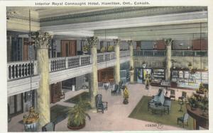 HAMILTON , Ontario , 1900-10s ; Interior Royal Connaught Hotel
