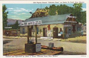 Old Pigeon Ranch On Santa Fe Trail Glorietta Pass New Mexico Curteich