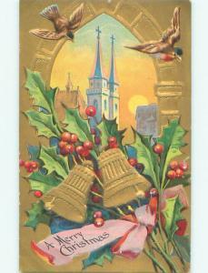 Divided-Back CHRISTMAS BIRDS SCENE Pretty Postcard W8572