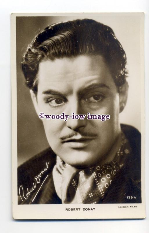 b5112 - Film Actor - Robert Donat, London Films No.139A - postcard