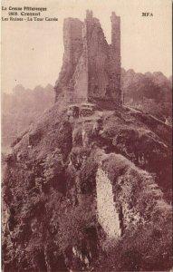 CPA CROZANT Les Ruines - La Tour Carree (1143806)