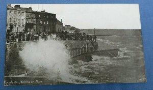 Vintage Postcard Rough Sea Walton On Naze Essex  Postmarked  1921 C1A