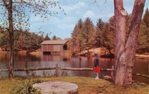 Dummerston Vermont~View Of Old Millpond Old Sturbridge Village~1960 Postcard