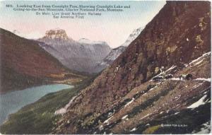 D/B Gunsight Lake Glacier National Park Great Northern Railway