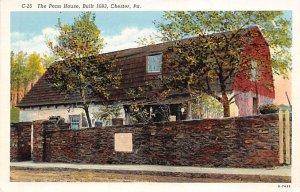 Penn House, Built 1683  Chester, Pennsylvania PA